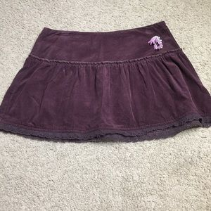 Low rise skirt
